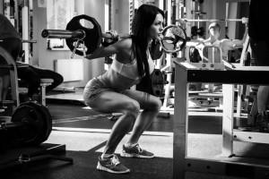 Po-Training durch Kniebeugen